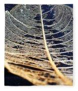 Lace Leaf 4 Fleece Blanket