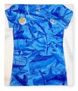 Ladies Gamefish Collage Shirt Fleece Blanket