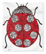 Lady Bug Fleece Blanket
