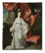 Lady Grant - Wife Of Sir James Grant Fleece Blanket