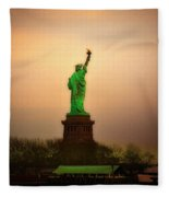 Lady Liberty Fleece Blanket
