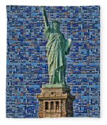 Lady Liberty Mosaic Fleece Blanket