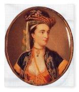 Lady Mary Wortley Montagu Fleece Blanket