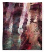 Lady Of The Mist Fleece Blanket