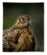 Lady Pheasant Fleece Blanket