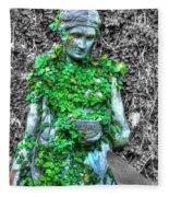 Lady Statue Fleece Blanket