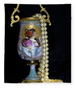 Lady Vase And Pearls Fleece Blanket