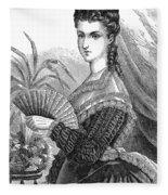 Lady With Fan, C1878 Fleece Blanket