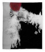 Lady With Heart Fleece Blanket