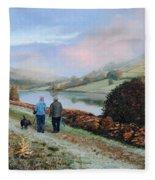 Ladybower Reservoir - Derbyshire Fleece Blanket