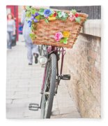 Lady's Bike Fleece Blanket
