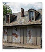 Lafittes Blacksmith Shop Bar New Orleans Fleece Blanket