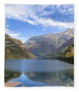 Lago Di Vogorno Fleece Blanket