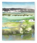 Lagoon In Spain Fleece Blanket