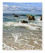 Laguna Beach Coast Fleece Blanket