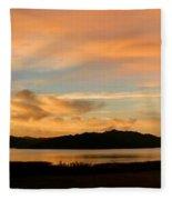 Lake Casitas Sunrise Fleece Blanket