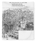 Lake Erie: Vineyard, 1873 Fleece Blanket