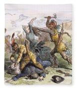 Lake George: Massacre, 1757 Fleece Blanket