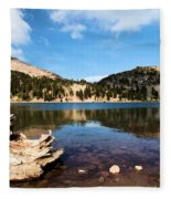 Lake Helen Reflections Fleece Blanket