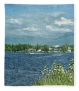 Lake Hood Anchorage Alaska Fleece Blanket