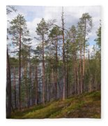 Lake Huosius At Hossa Fleece Blanket