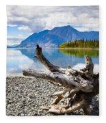 Lake Kathleen In Kluane National Park Fleece Blanket