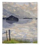 Lake Kilarney Ring Of Kerry Watercolour Painting Fleece Blanket