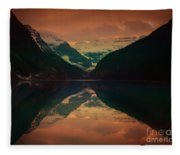 Lake Louise Abstract Fleece Blanket