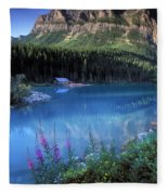 Lake Louise Banff Canada Fleece Blanket