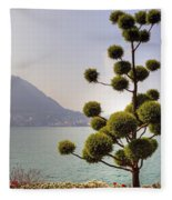 Lake Lugano - Monte Salvatore Fleece Blanket