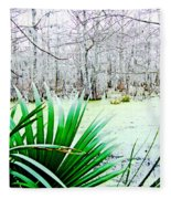Lake Martin Swamp View Fleece Blanket
