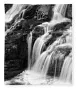 Lake Mcdonald Falls Glacier National Park Fleece Blanket
