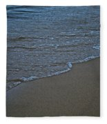 Lake Michigan Beach Fleece Blanket