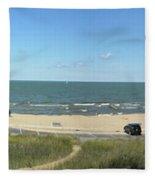 Lake Michigan From The Michigan State Side Fleece Blanket