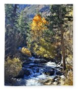Lake Sabrina Creek Fleece Blanket