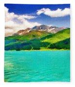 Lake Sils Fleece Blanket