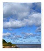 Lake Superior At Whitefish Bay Fleece Blanket