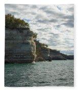 Lake Superior Pictured Rocks 10 Fleece Blanket