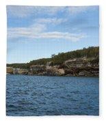 Lake Superior Pictured Rocks 22 Fleece Blanket