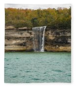 Lake Superior Pictured Rocks 48 Fleece Blanket