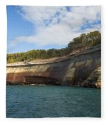 Lake Superior Pictured Rocks 6 Fleece Blanket