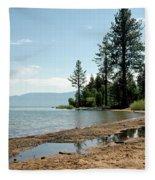 Lake Tahoe Beach Fleece Blanket