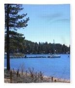 Lake Tahoe Dock Fleece Blanket