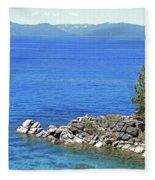 Lake Tahoe Rocky Point Fleece Blanket