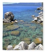 Lake Tahoe Shore Fleece Blanket