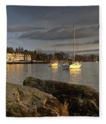 Lake Windermere Ambleside, Cumbria Fleece Blanket
