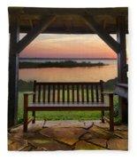 Lakeside Serenity Fleece Blanket