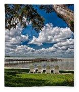 Lakeside View Fleece Blanket