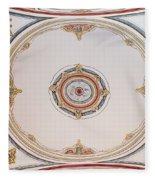 Laleli Mosque Ceiling Fleece Blanket