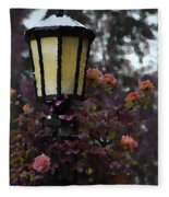 Lamp And Roses Fleece Blanket
